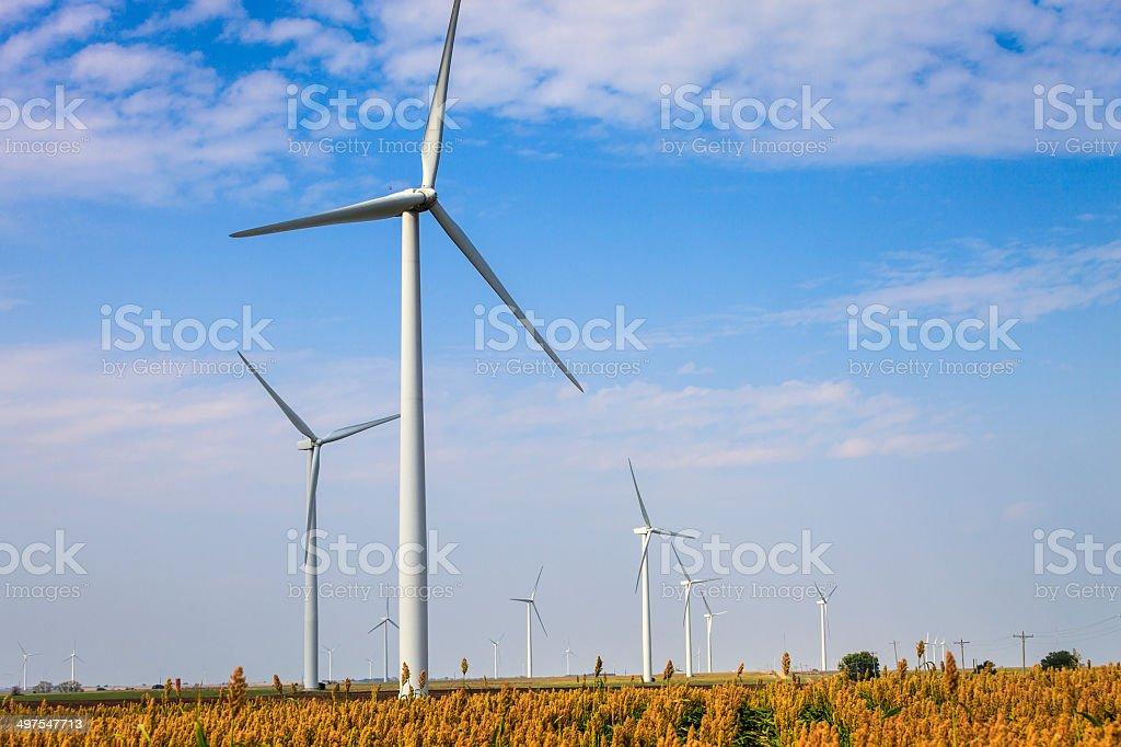 Kansas Wind Farm stock photo