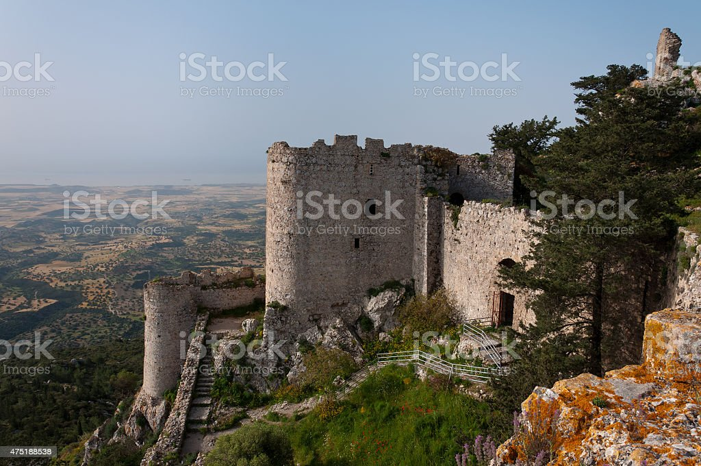 Kantara castle in Northern Cyprus stock photo