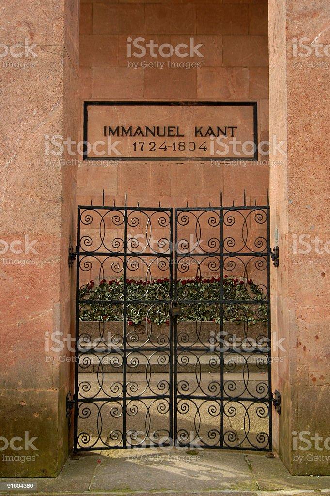 Kant`s grave stock photo