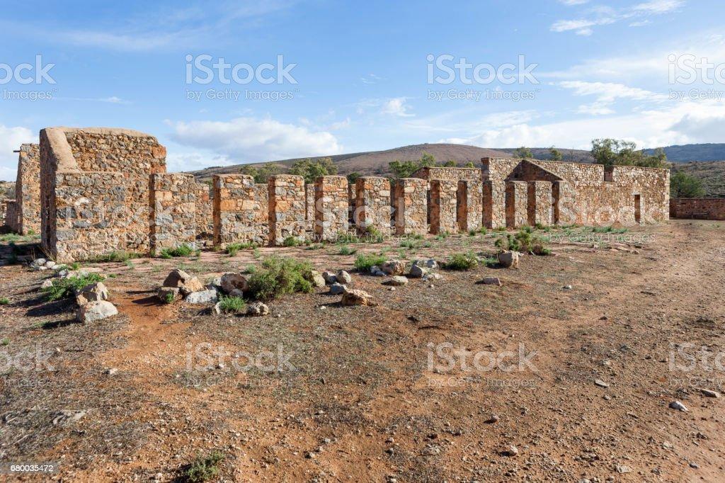 Kanyaka homestead ruins, South Australia. stock photo