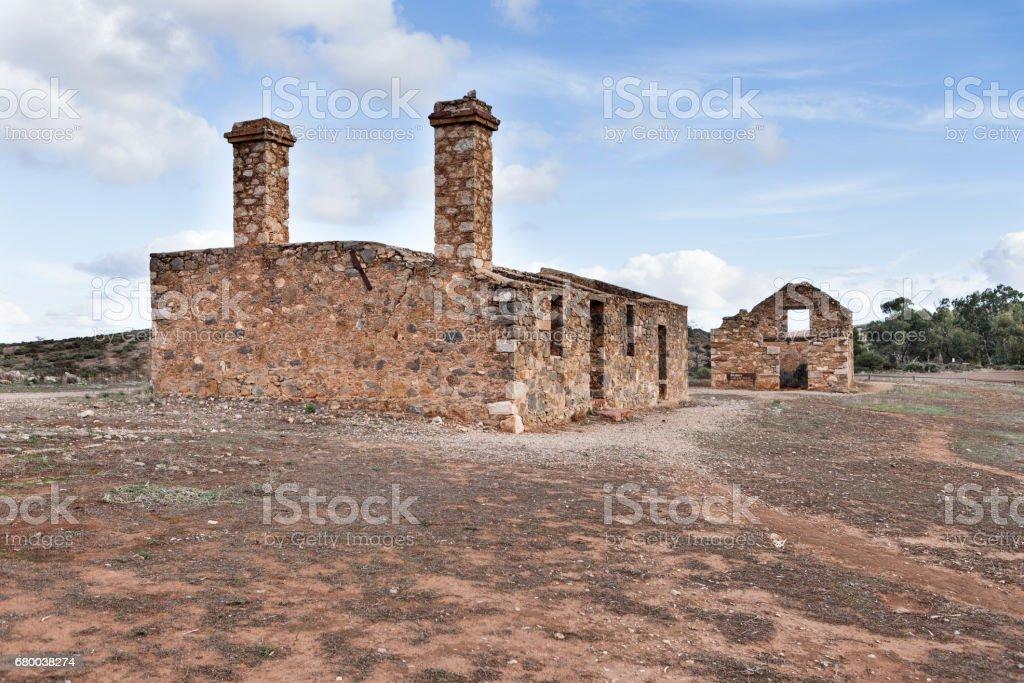 Kanyaka Station ruins in South Australia. stock photo