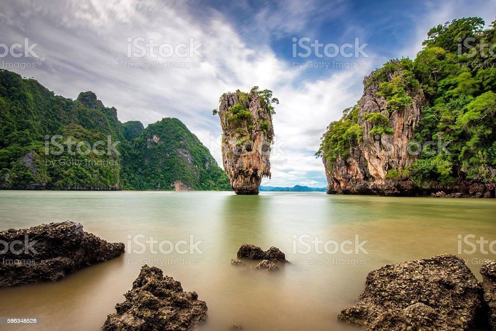 Kao Phing Kan in Phang Nga Bay stock photo