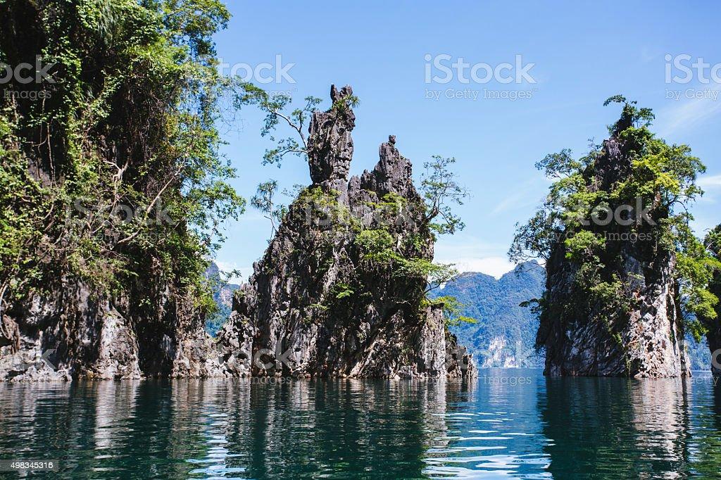 Kao Sok National Park lake stock photo