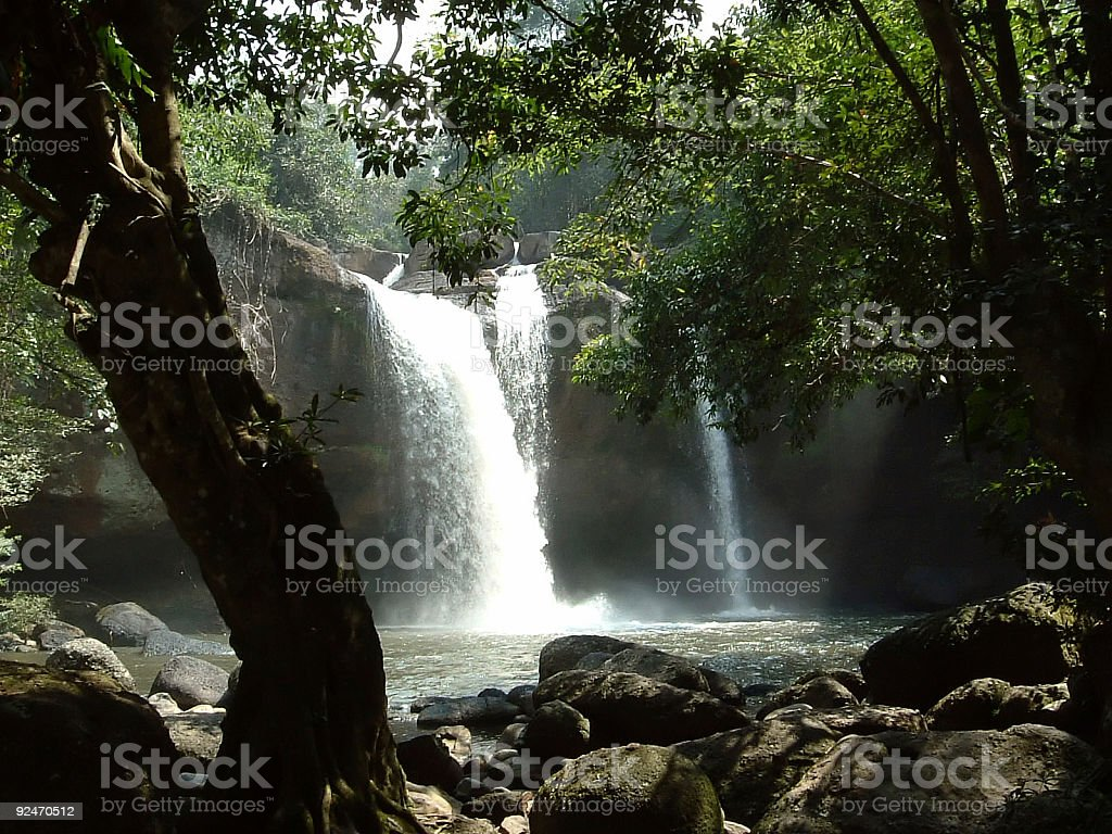 Kao Yai Waterfall royalty-free stock photo