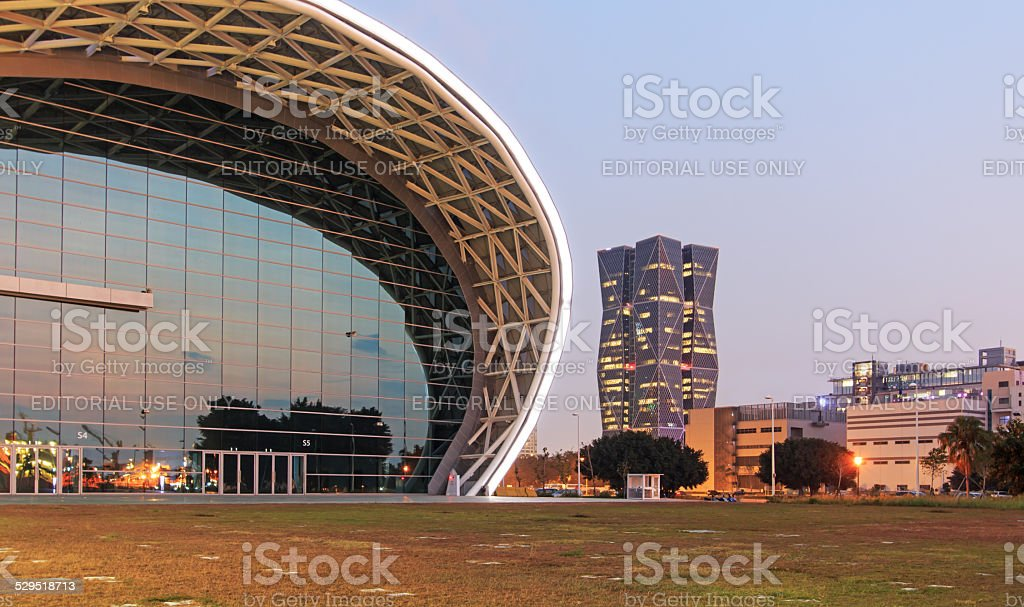 Kaohsiung Exhibition Center and China Steel Corporation Headquarters stock photo