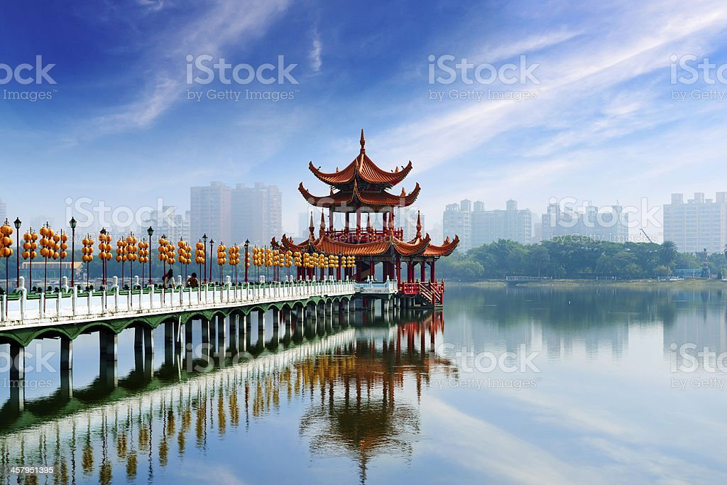 Kaohsiung's famous tourist attractions stock photo
