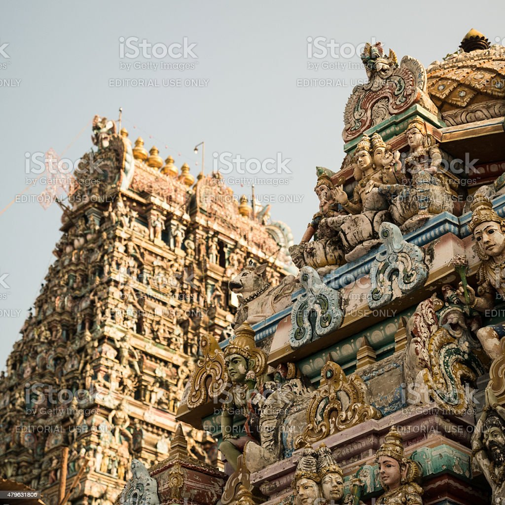 Kapaleeshwarar Temple, Chennai, India stock photo