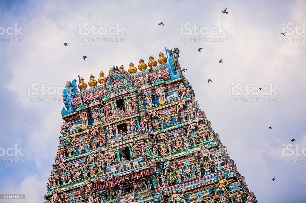 kapaleeswar temple stock photo