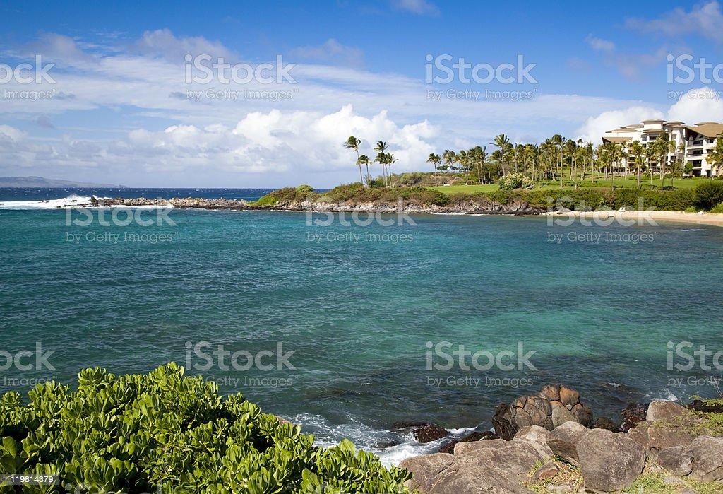 Kapalua Bay stock photo