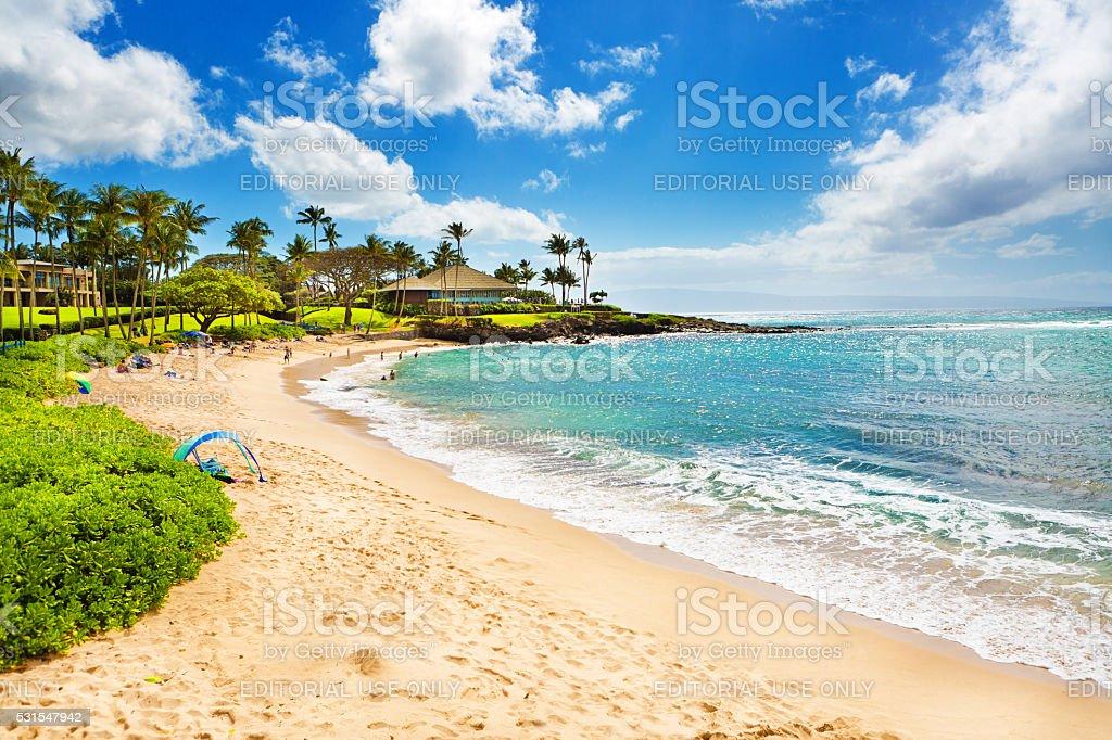 Kapalua Beach and resort Hotels on Maui Hawaii stock photo