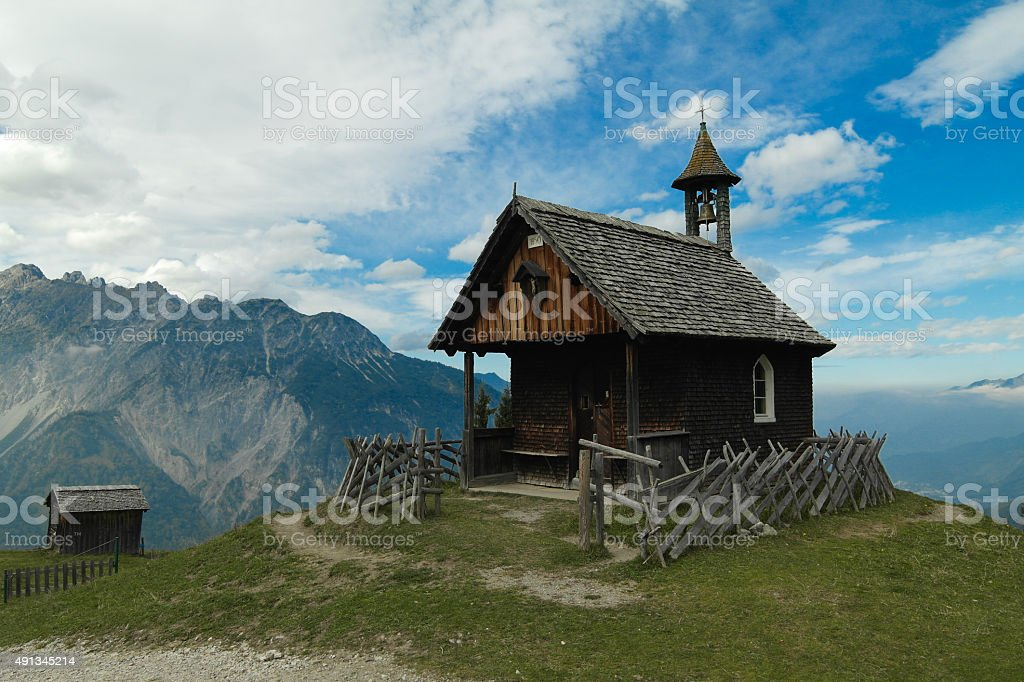 Kapelle am Rellseck - Montafon stock photo
