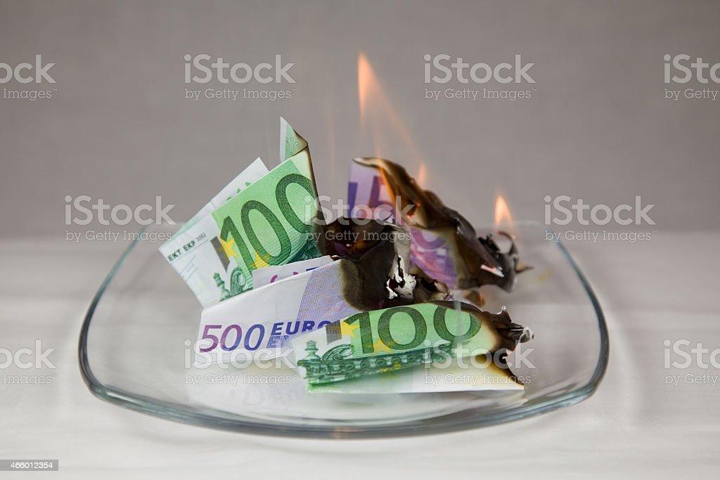 Kapitalvernichtung stock photo
