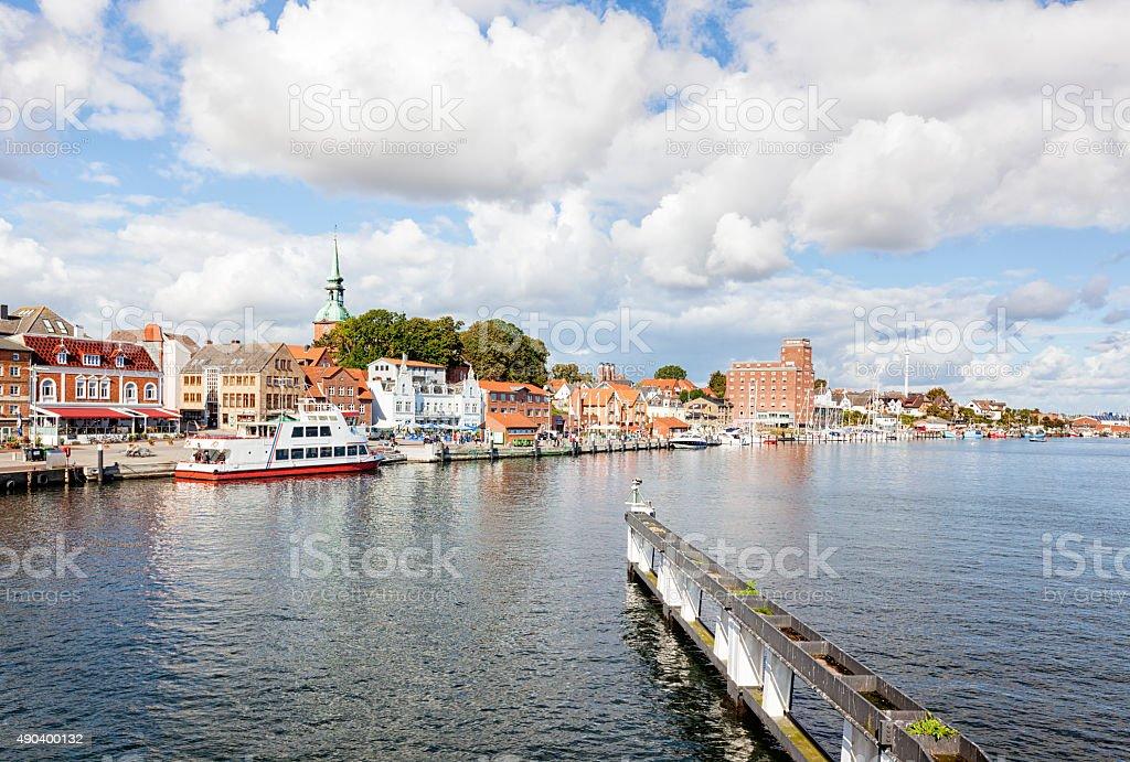 Kappeln cityscape stock photo