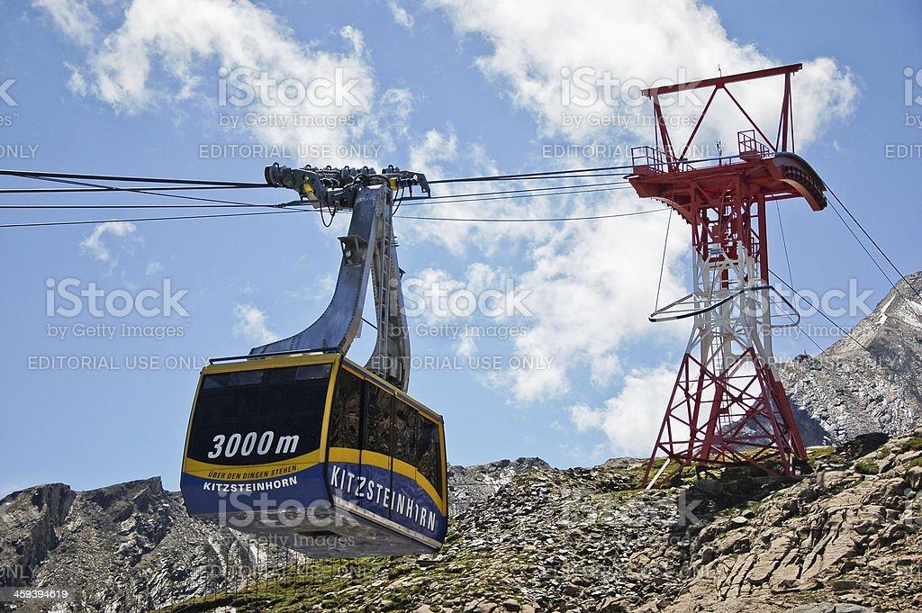 Kaprun Gletscherbahn stock photo
