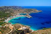 Kapsali village at Kithera island, Greece.