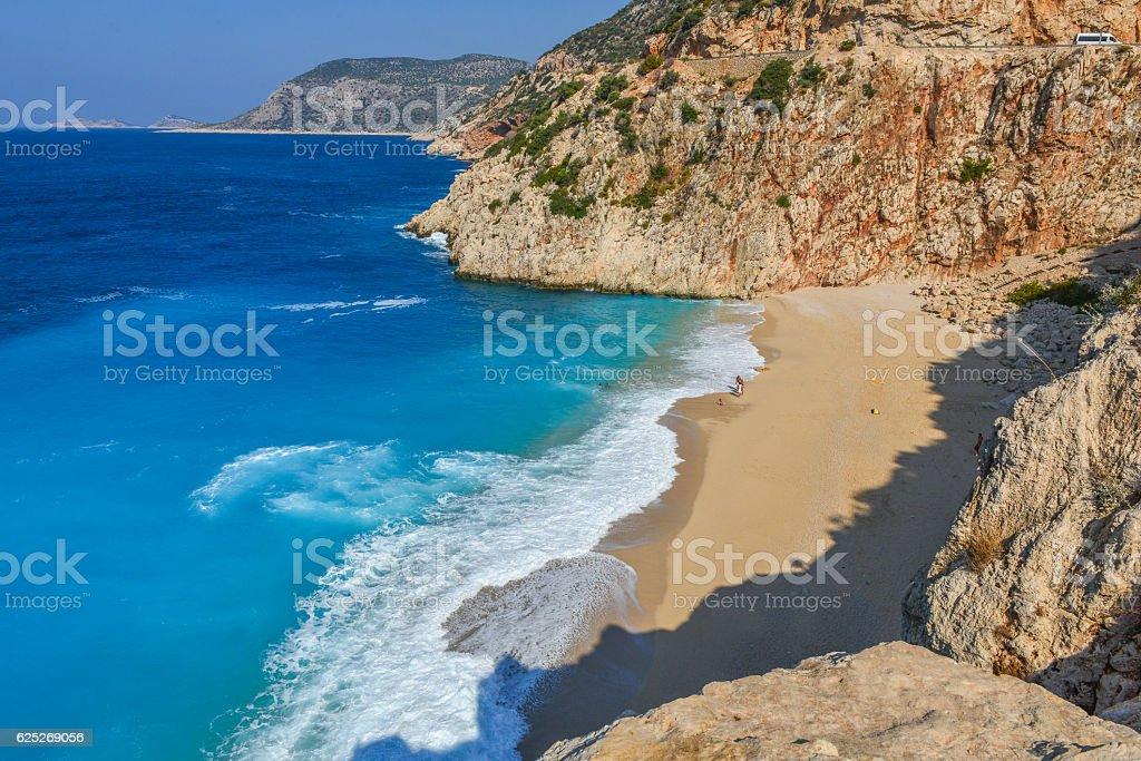 Kaputas beach from Antalya / Turkey. stock photo
