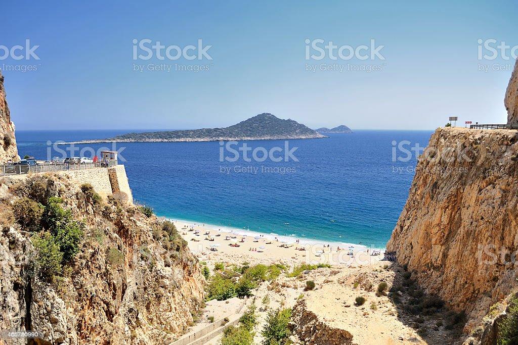Kaputas Beach in Antalya stock photo