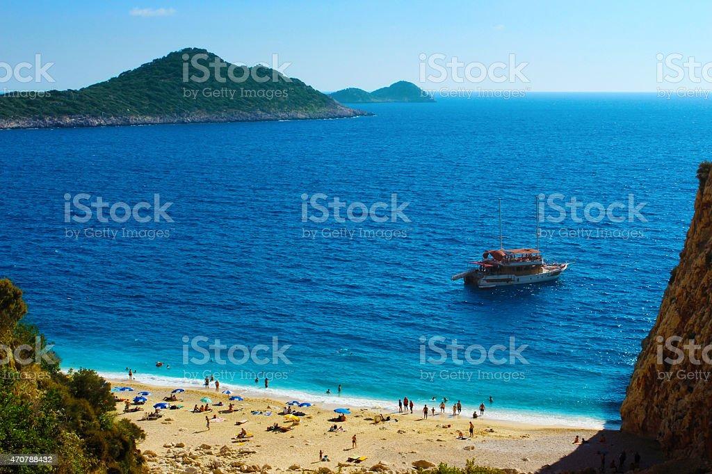 Kaputas пляже Kas Стоковые фото Стоковая фотография
