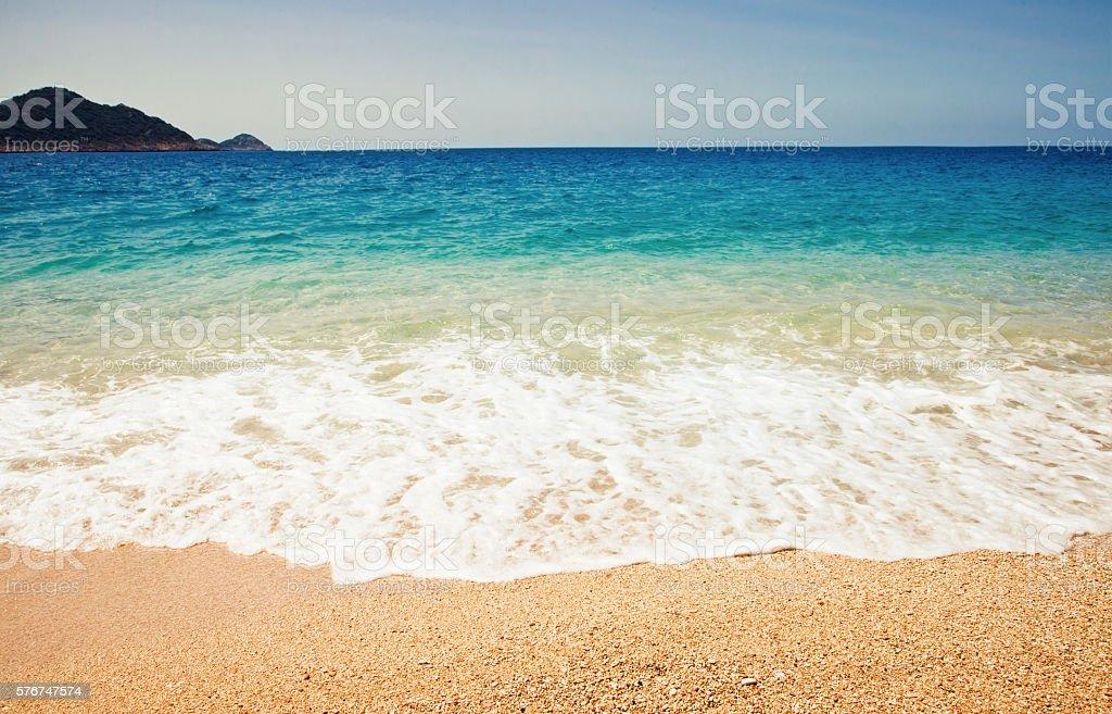 Kaputas Beach, Mediterranean Coast, Antalya, Turkey with Vintage stock photo