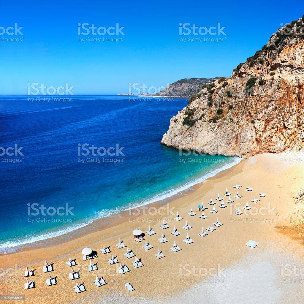 Kaputas beach near Kalkan, Turkey stock photo