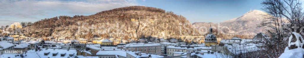 Kapuzinerberg in Winter (XXXL) stock photo