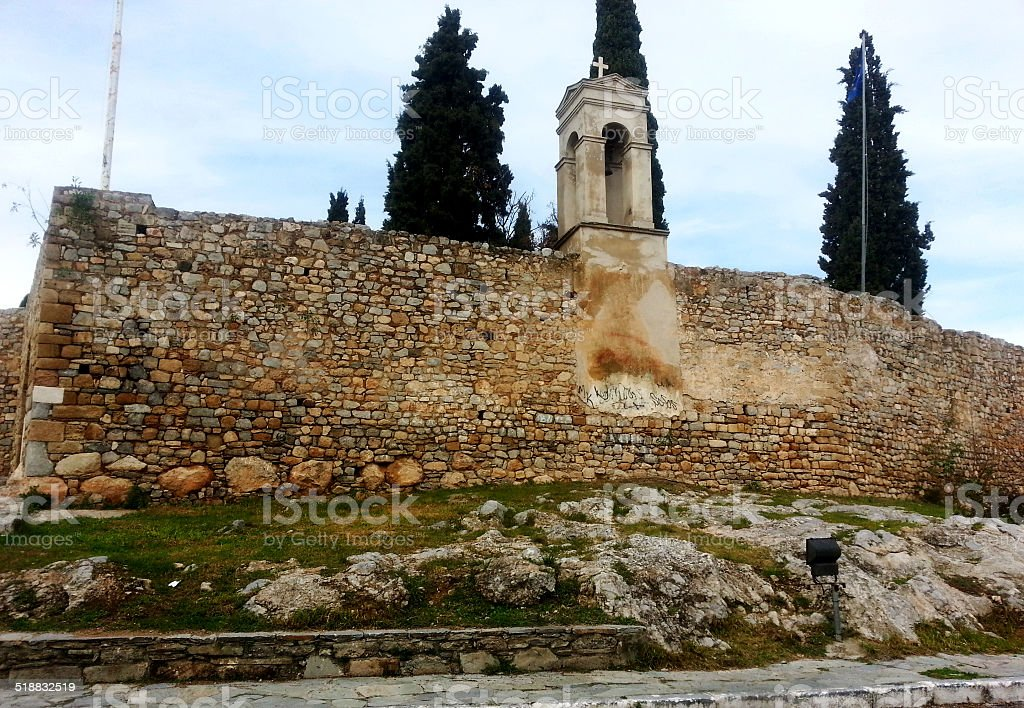 Karababa fort in Chalkis,Greece stock photo