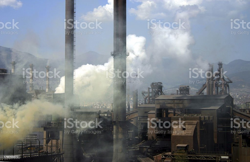 Karabuk iron and steel works stock photo