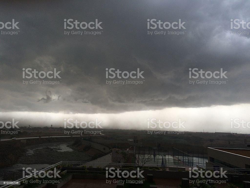 Karachi in Monsoon stock photo