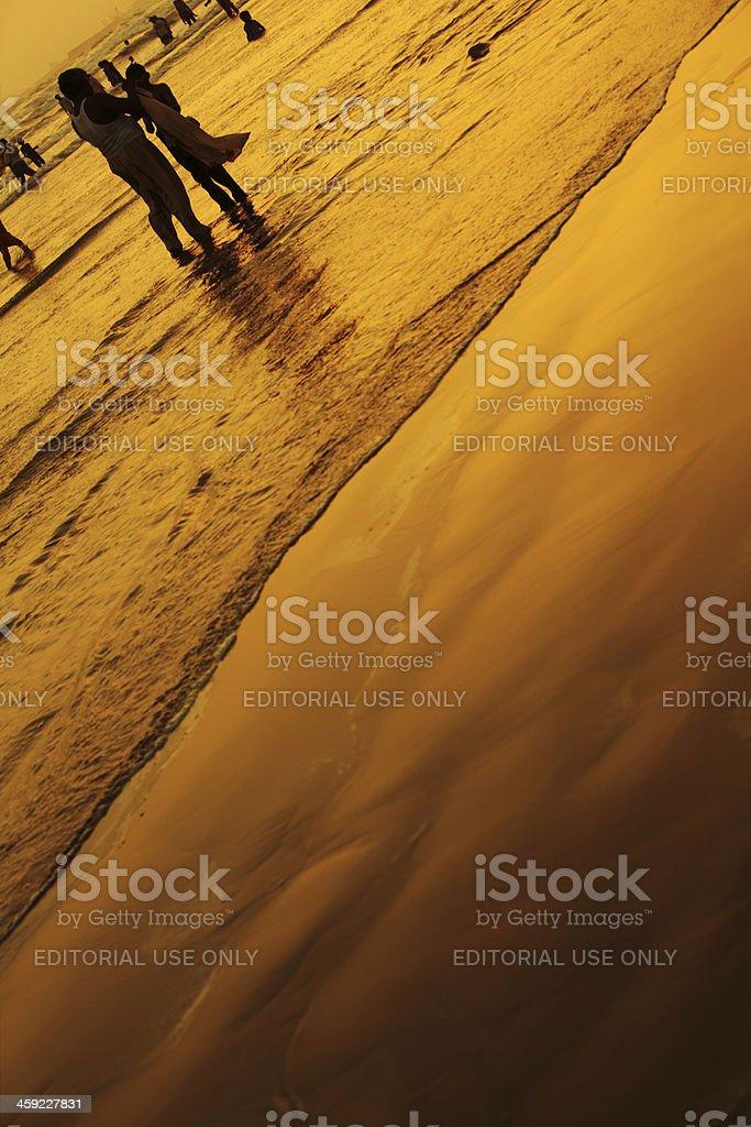 Karachites enjoying Summer Evening at Clifton Beach, Karachi - P stock photo