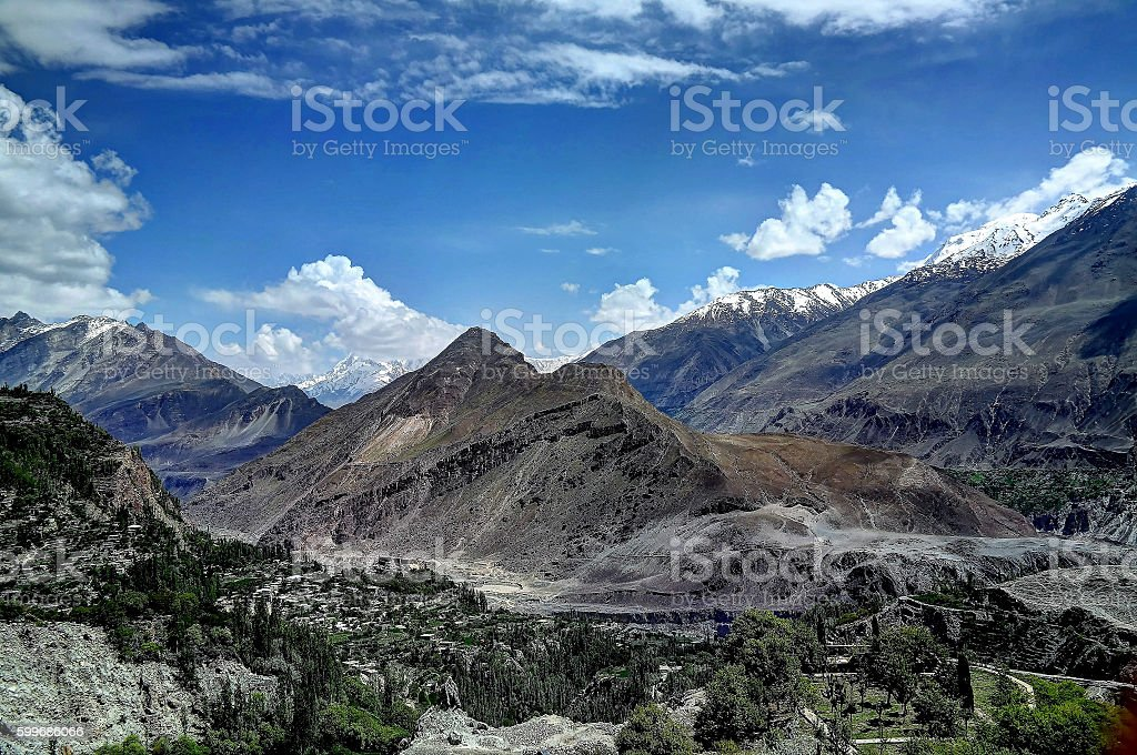 Karakoram mountain, Pakistan stock photo