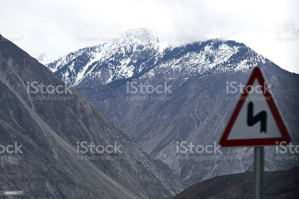 Karakoram mountain range, himalayas of Pakistan stock photo