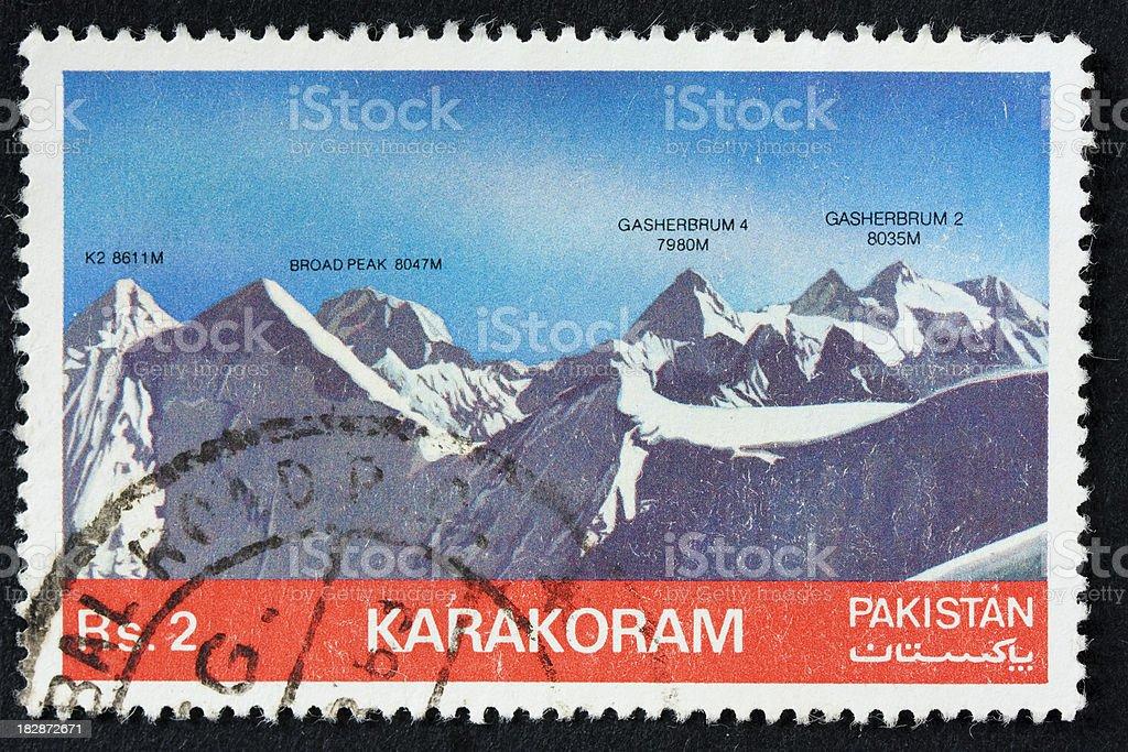 karakoram mountain range stock photo