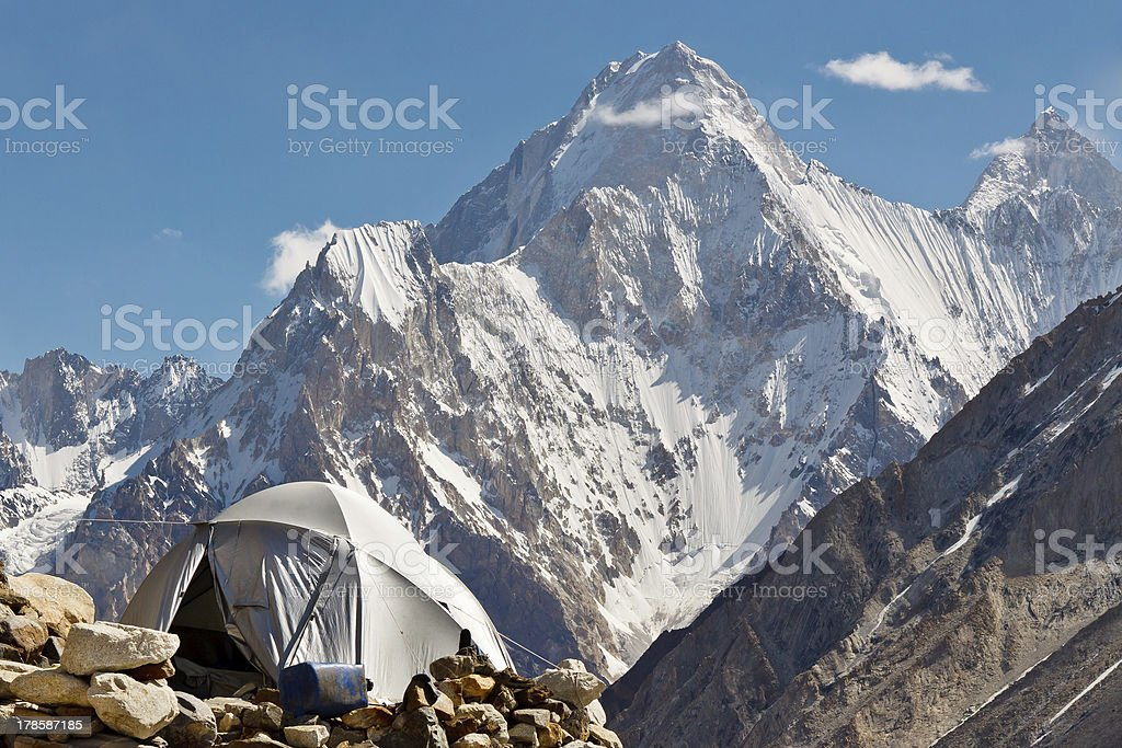 Karakorum Camp, Pakistan stock photo