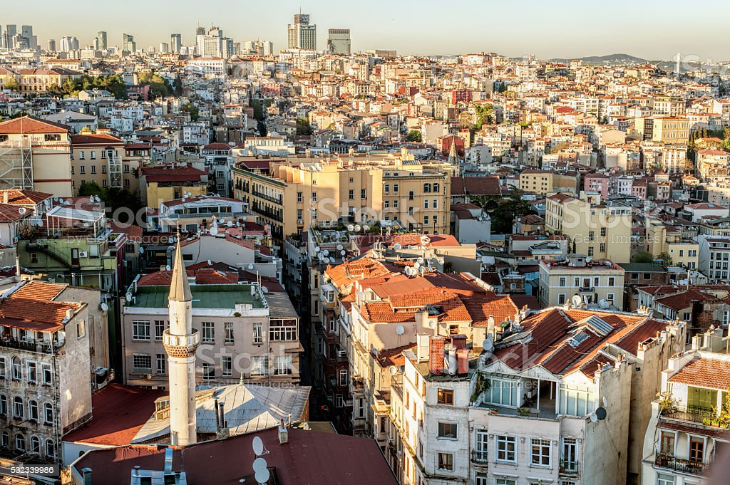 Karakoy panoramic view stock photo