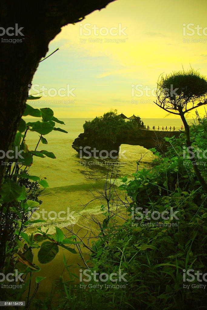 Karang Bolong Tanah Lot stock photo
