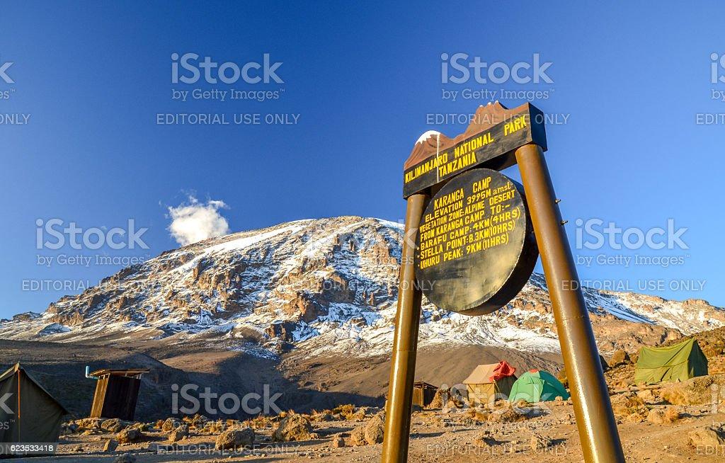 Karanga Camp at Mount Kilimanjaro - Tansania, Africa stock photo