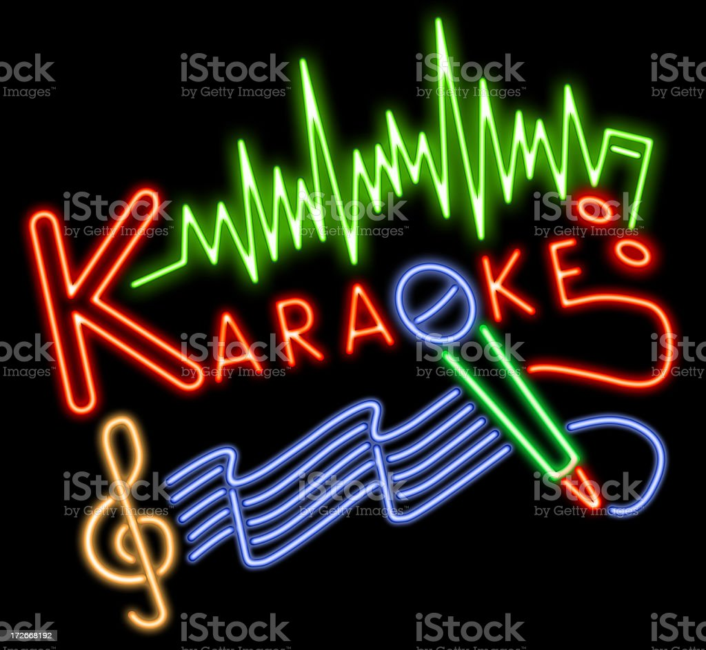 Karaoke Neon stock photo