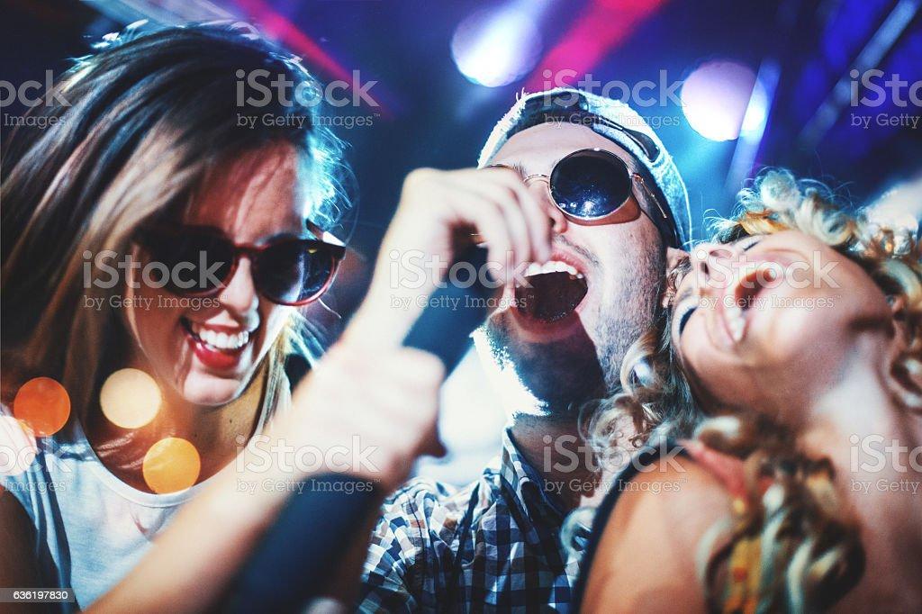 Karaoke night. stock photo