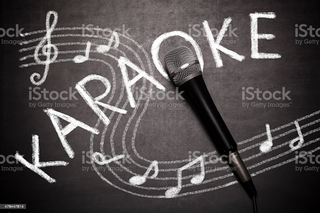 Karaoke Party stock photo