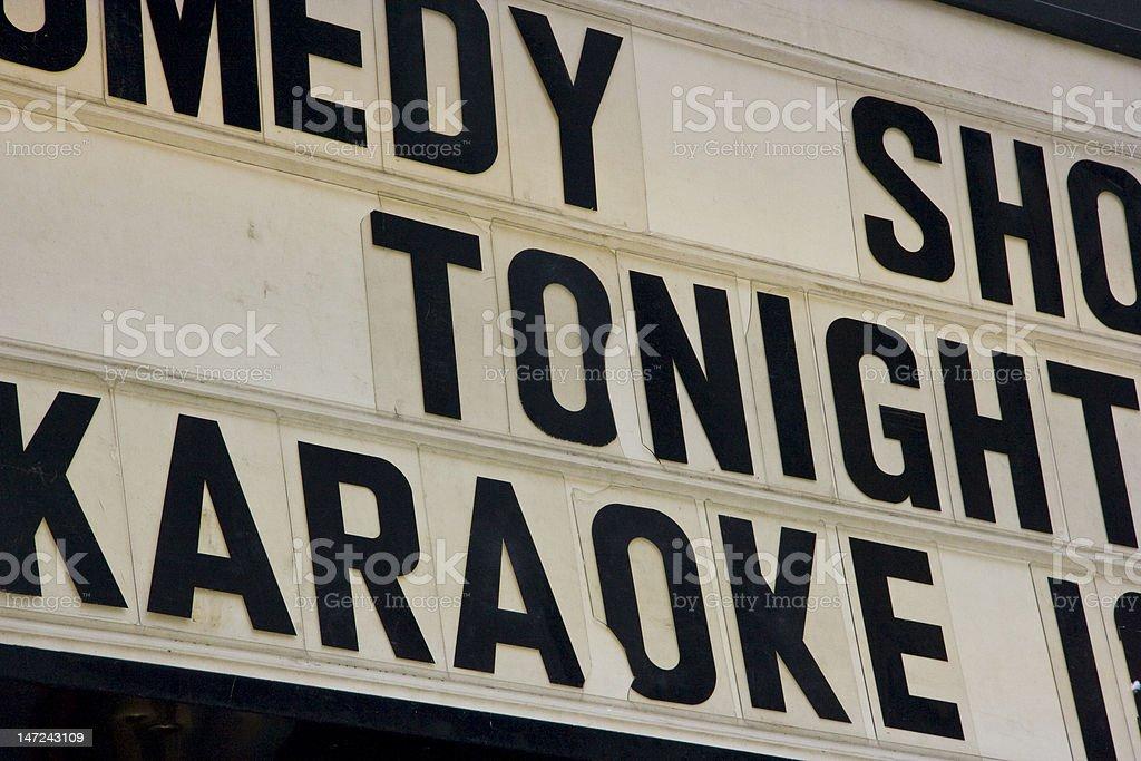 Karaoke Sign royalty-free stock photo