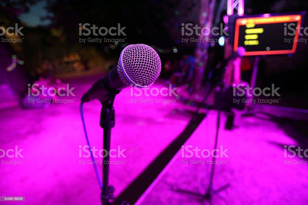 Karaoke stage stock photo