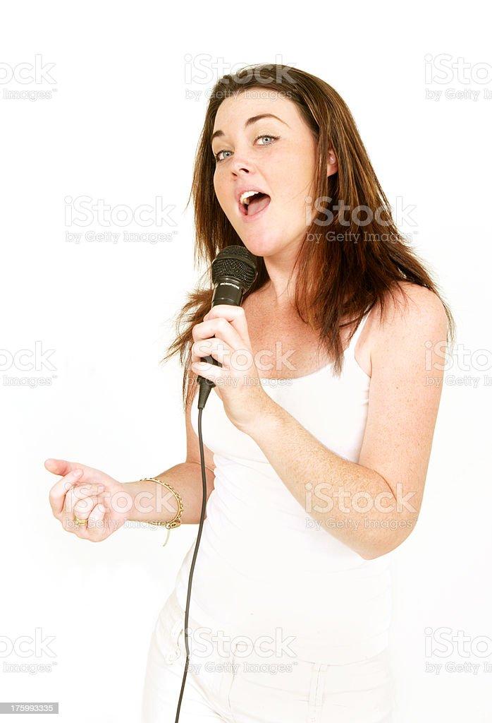 Karaoke Star stock photo