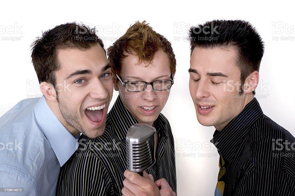 Karaoke Trio 2 stock photo