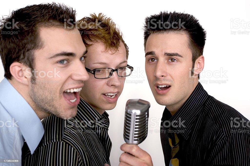 Karaoke Trio stock photo
