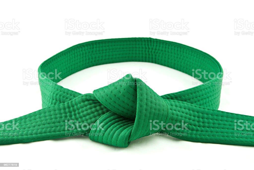 Karate Belt  Green stock photo