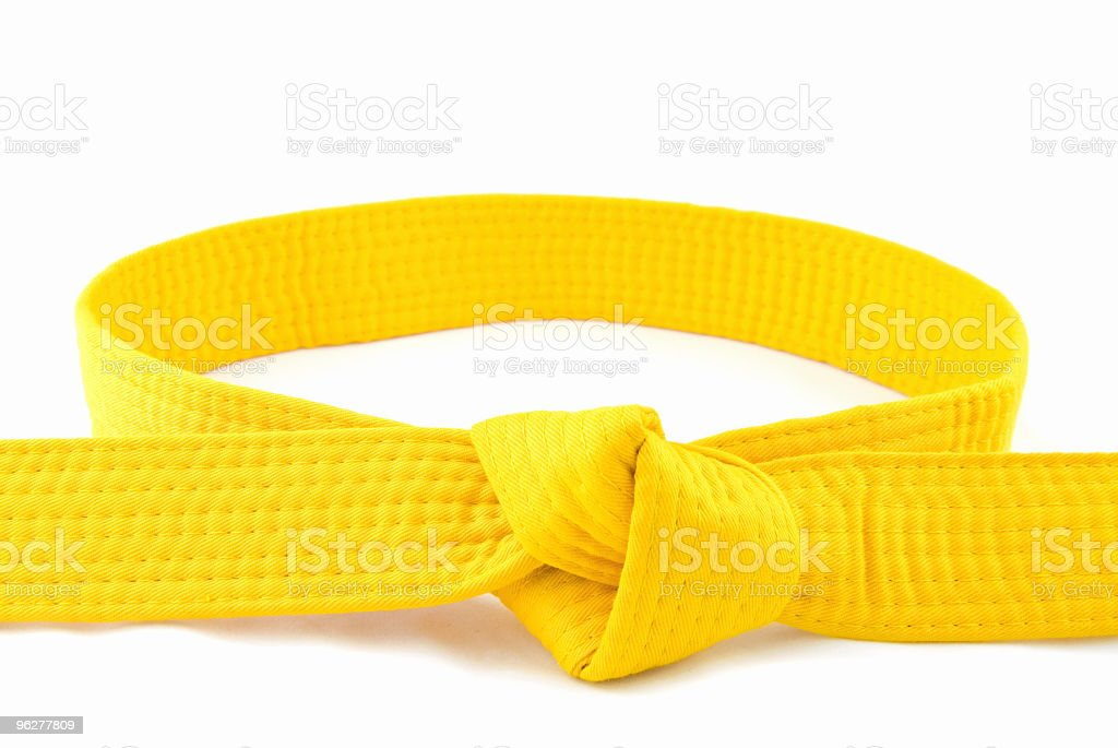 Karate Belt  Yellow stock photo