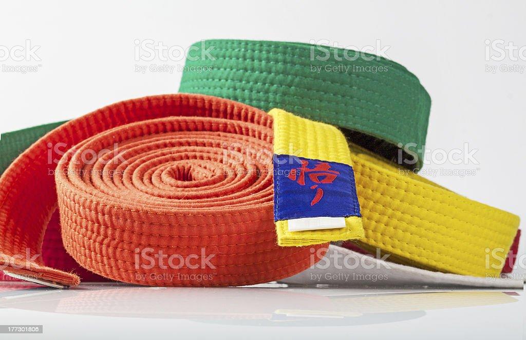 Karate Belts stock photo
