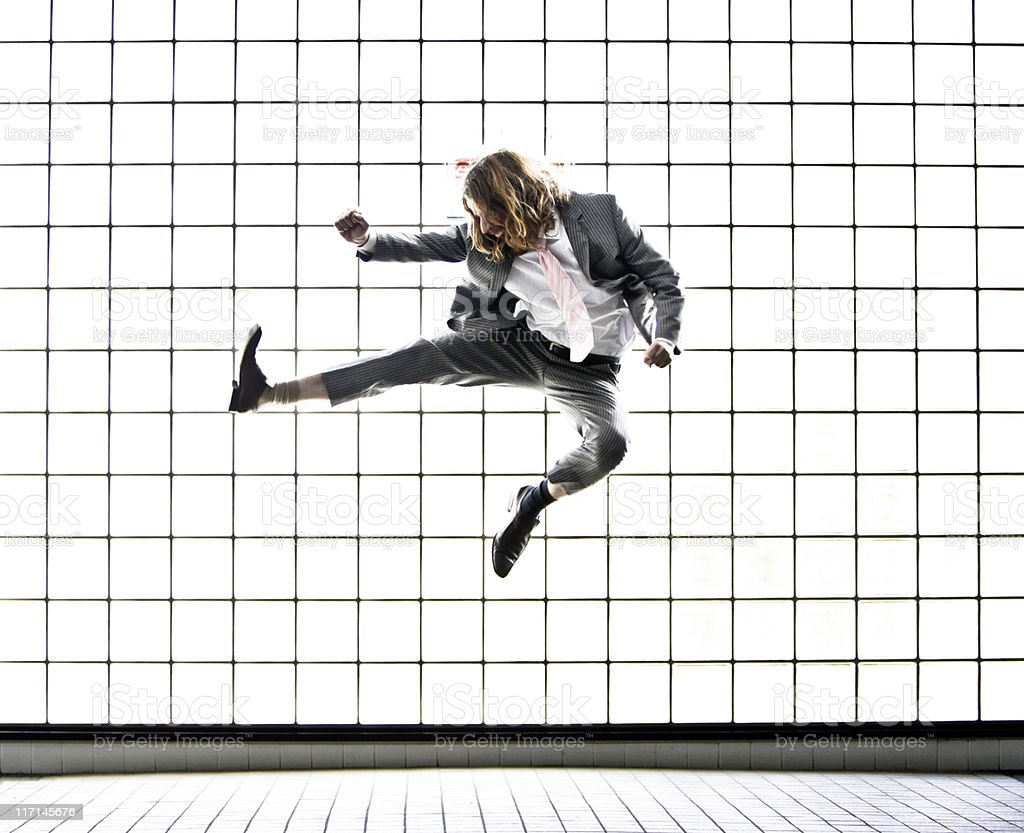 Karate businessman royalty-free stock photo