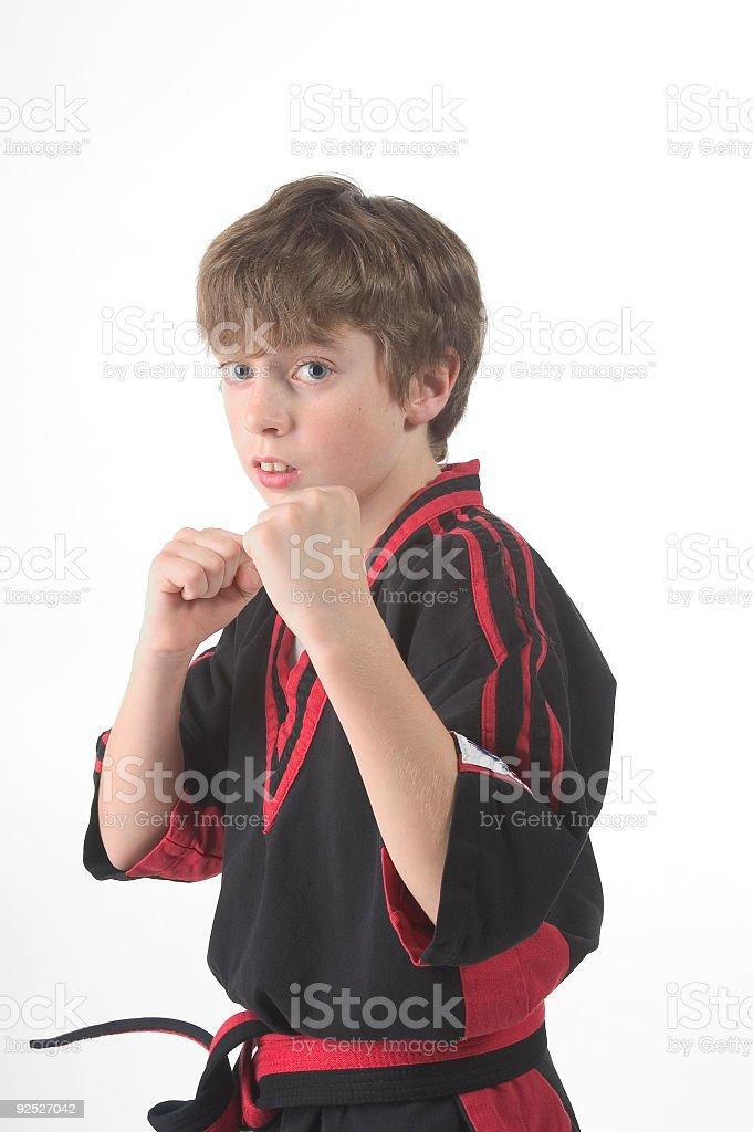 karate: defend stock photo