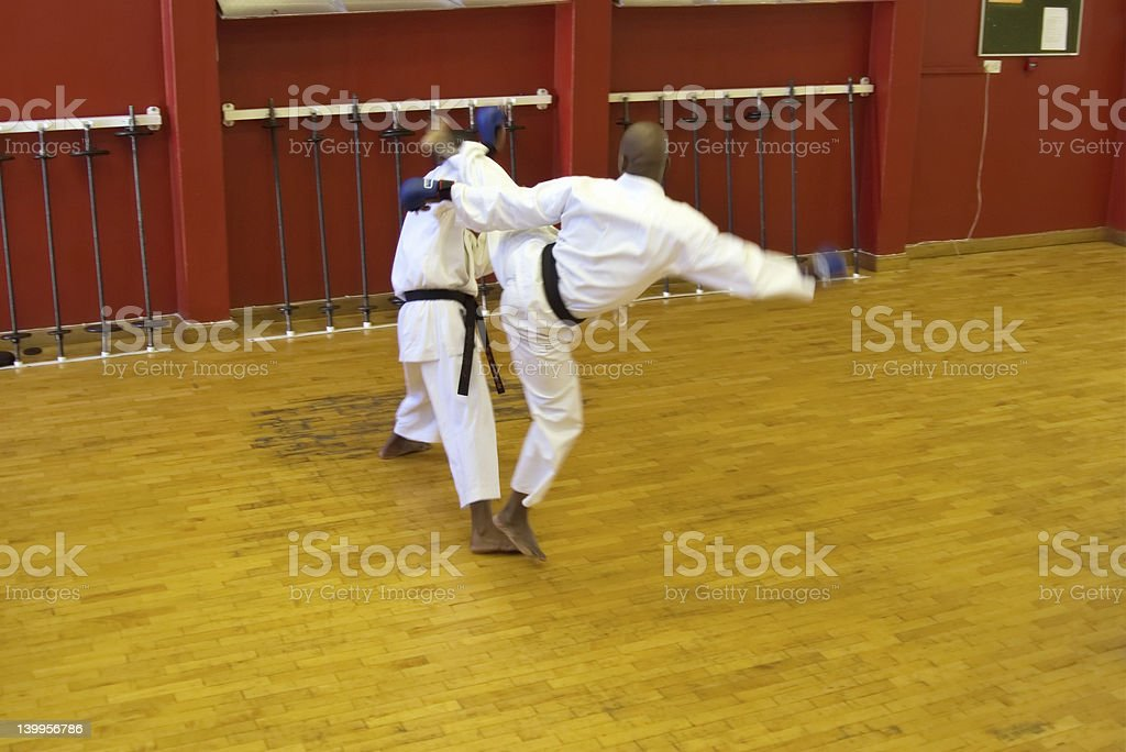 karate fight royalty-free stock photo